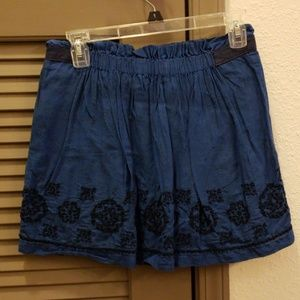 Hollister M Navy Embroidered Skirt